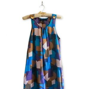 Marc by Marc Jacobs Purple Teal Dress - SMALL
